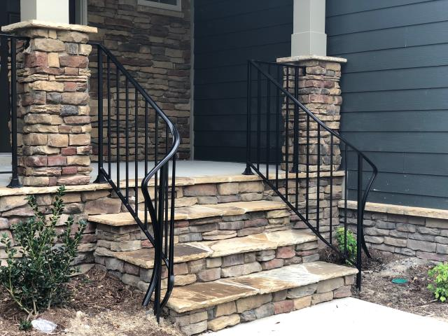 Wake Forest, NC - Add an elegant touch or iron to your porch!  Let us custom fabricate and install beautiful wrought iron railings to your beautiful home!