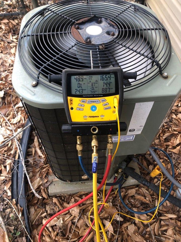 Kernersville, NC - Payne heat pump service call. Breaker keeps tripping