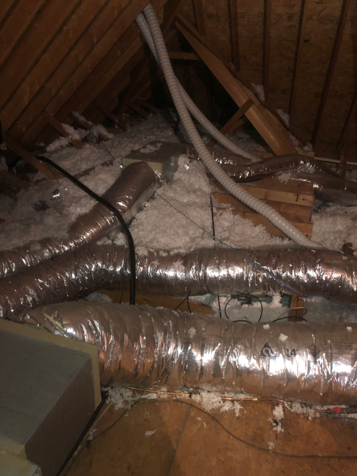 High Point, NC - Smoke damage from fire restoration and duct cleaning.