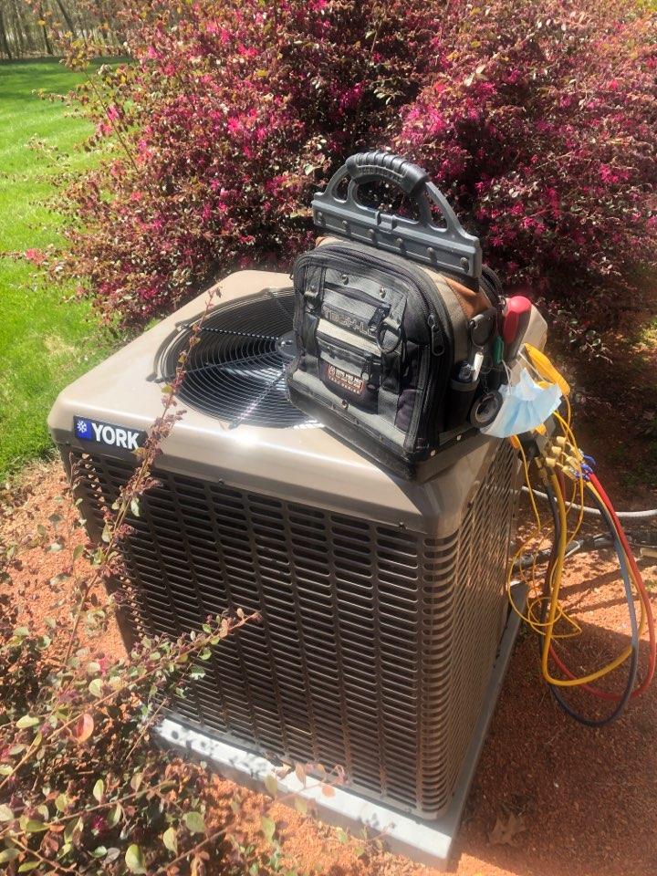 Thomasville, NC - York heat pump condenser spring tune up new install