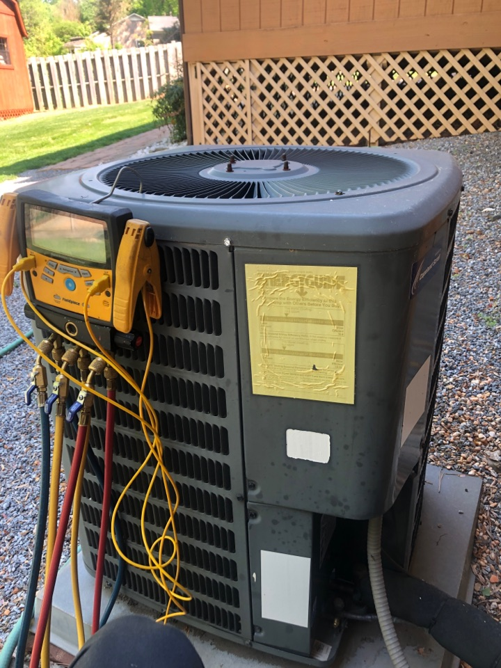 Kernersville, NC - Goodman spring tune up with chemical cleaning of condenser coils