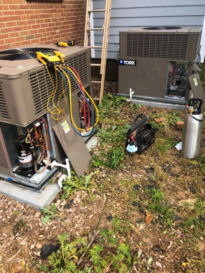 Greensboro, NC - Two York gas package units spring cleaning and tune up