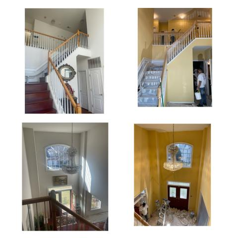 Fairfax, VA - Interior Painting. Adding color to the foyer and the rest of the house.