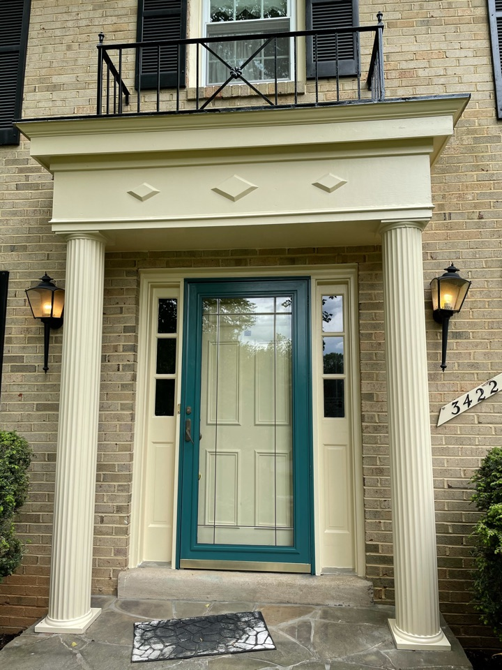 Fairfax, VA - Painting front entry and door