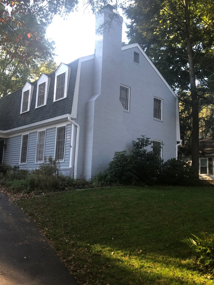 Rockville, MD - Final exterior painting walk through with another happy customer in Potomac, MD.