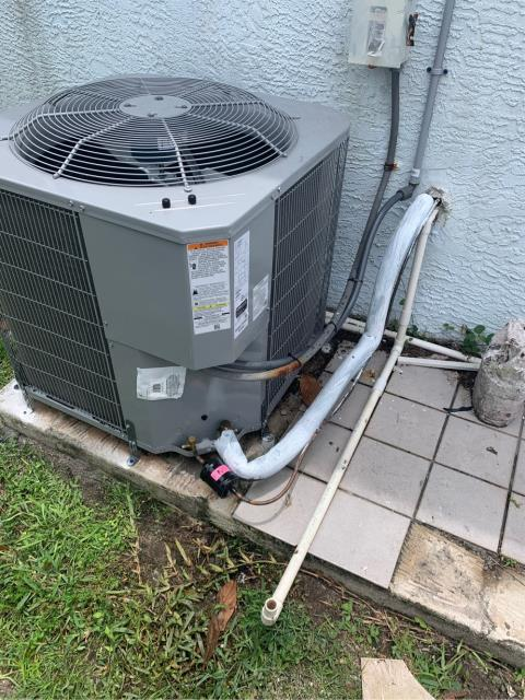 Port St. Lucie, FL - Reinstalled this customers brand new AC system after a poor installation by another company wouldn't pass inspection. They wouldn't even answer the customers phone calls.