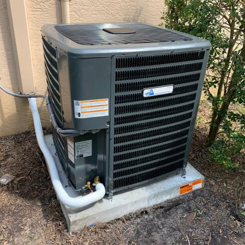 Palm City, FL - Customer is so happy with their new 16.00 Seer Arnold's AC Private Label air conditioning system.  This system includes a 10 year Assure Care labor warranty!