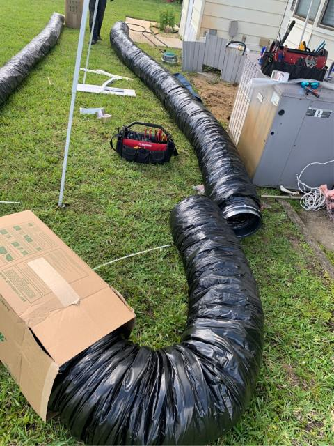 Hobe Sound, FL - Replaced collapsed supply trunk line