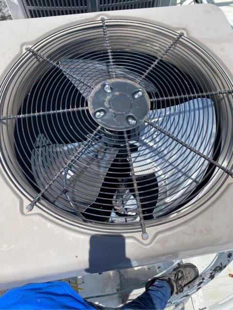 Tequesta, FL - Replaced air conditioning condenser fan motor and modular.  We provide a 2 year labor and part warranty for the same failed part, 100% satisfaction guarantee.