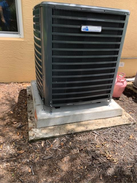 Palm City, FL - Installed new 4 ton, 16 seer Arnold's Air Conditioning Private Label (Goodman Manufactured) System.  AC system comes with 5 year Assure Care labor warranty and 2 Year Replacement Warranty.