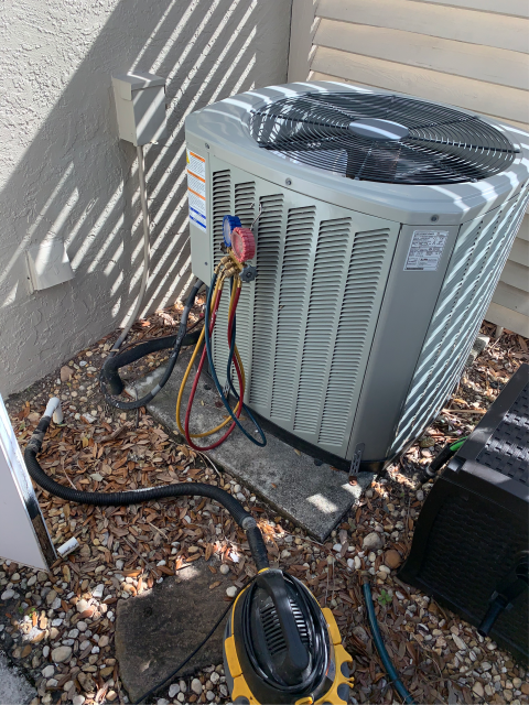 Port St. Lucie, FL - Customers ac system was not blowing cold air.  We installed a new capacitor and now air conditioning system is working and customer is very happy!