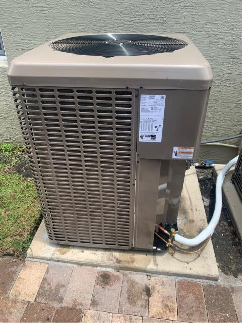 Palm City, FL - Installed two York air conditioners; 3 & 4 ton; 16 & 18 seer.
