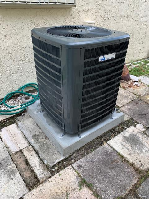 Port St. Lucie, FL - Installed new air conditioning system; 2.5 ton, 15.0 single speed condenser fan motor.