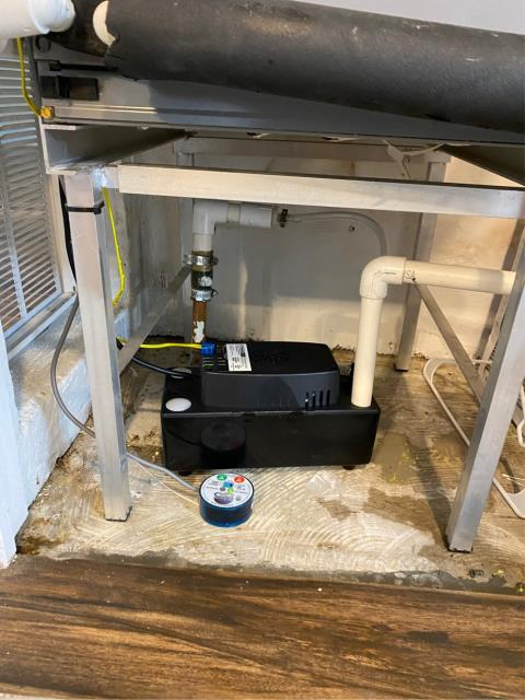 Palm City, FL - Air conditioning system not cooling; installed new condensate pump.
