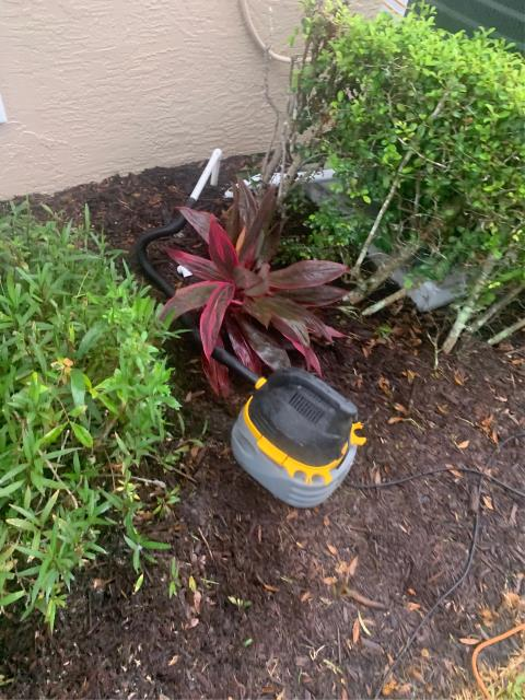 Jensen Beach, FL - Air Conditioning system not working; unclogged and treated drain line.