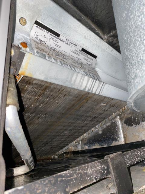 Wellington, FL - Air Conditioning system commercial maintenance; recommended to replace rusted filter dryer, ducal capacitor and suction line insulation at condenser to run ac more efficiently.