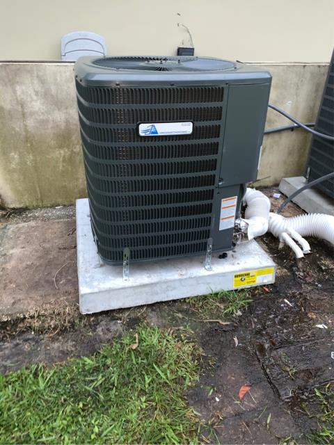 Port St. Lucie, FL - Installation of new air conditioning system; 16 seer, multi speed, higher efficiency, and digital thermostat with a 10 year parts warranty.