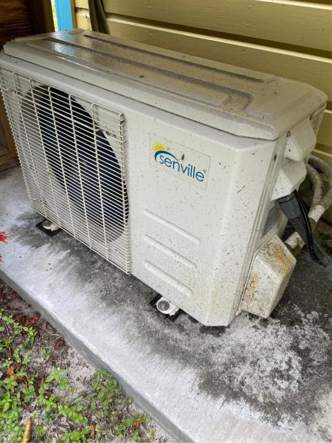 Fort Pierce, FL - Air conditioning system tune up on a mini split includes a 23 point inspection, clean accessible coils, and flush drain line.