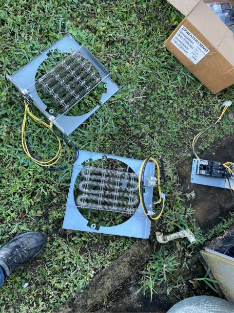 Hobe Sound, FL - Air conditioning system heater not heating; replaced heater and breaker.
