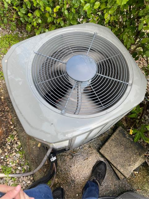 West Palm Beach, FL - Air conditioning system tune up; includes 23 point inspection, clean accessible coils, and flush drain line.  We love our customers in Century Village!