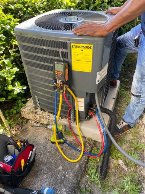 Palm City, FL - Air conditioning system would not turn on; unclogged and treated drain line and then performed a maintenance.  We recommend two maintenances per year which includes a 23 point inspection, flush and clean drain line, clean accessible coils, and priority scheduling.