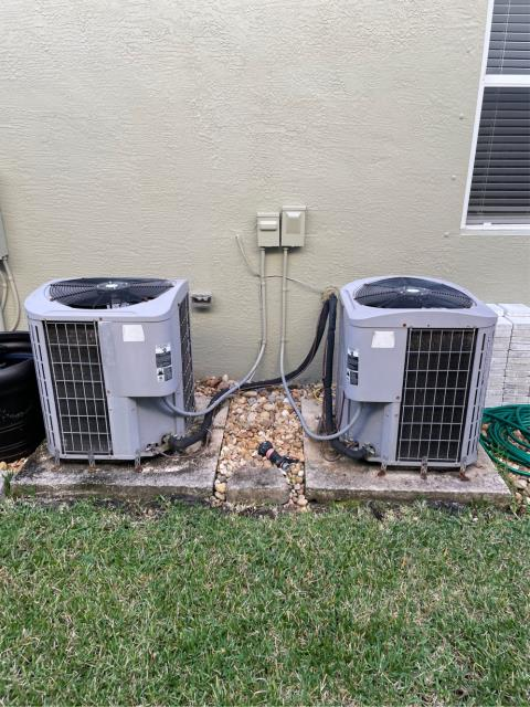 Palm City, FL - Air conditioning system estimate to replace both ac systems in customers budget and to fit his needs.  We love our friends in Highland Reserve!