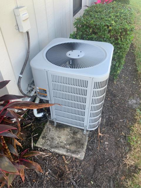 Jensen Beach, FL - Air conditioning system maintenance includes a 23 point inspection, clean accessible coils, flush drain line, clean drain pan, and apply protective coating on outside unit.