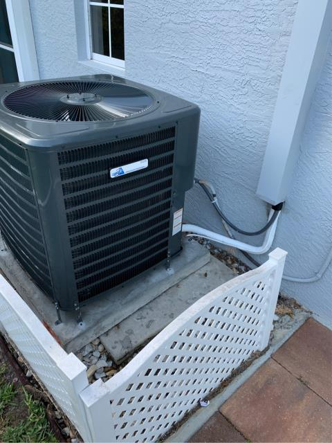 Jensen Beach, FL - Air conditioning system installed; 3.5 ton, 16 SEER, higher energy efficiency; variable speed blower for enhanced humidity removal, and Nest thermostat.