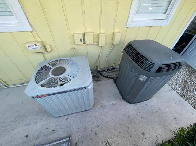 Hobe Sound, FL - Air conditioning system free estimate provided to customer to replace both systems to fit in his budget and needs.