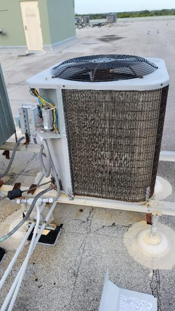 North Palm Beach, FL - Air conditioning system system not cooling; proceeded with leak check and found system was out of warranty and recommended replacing system.