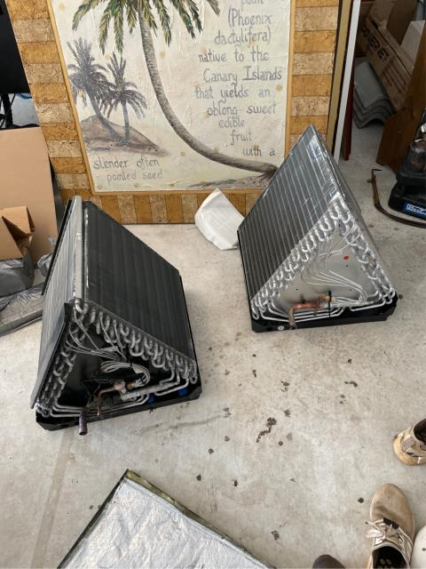 Jupiter, FL - Air conditioning system not blowing cold; replace air handler evaporator coil and all operation working properly.