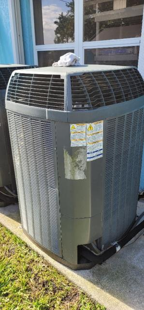 Palm City, FL - AC System maintenance on two residential air conditioning systems.  All maintenances come with a 23 point inspection, clean accessible coils, flush drain line, clean drain pan, and apply protective coating to outside unit.