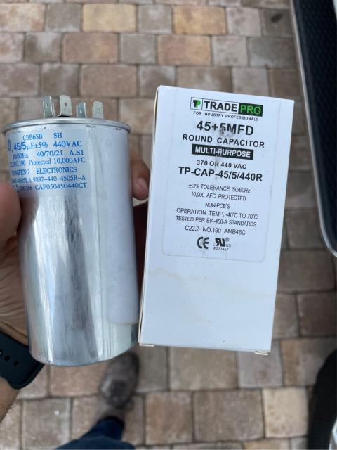 Palm City, FL - Air conditioning system not cooling; found and replaced bad capacitor and all operations working.  We love our friends in Highland Reserve!