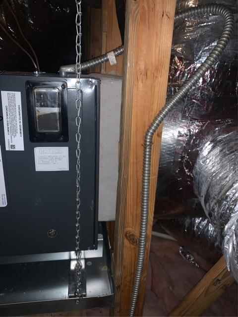 Port Salerno, FL - AC system service call to adjust drain pan to code for inspection.