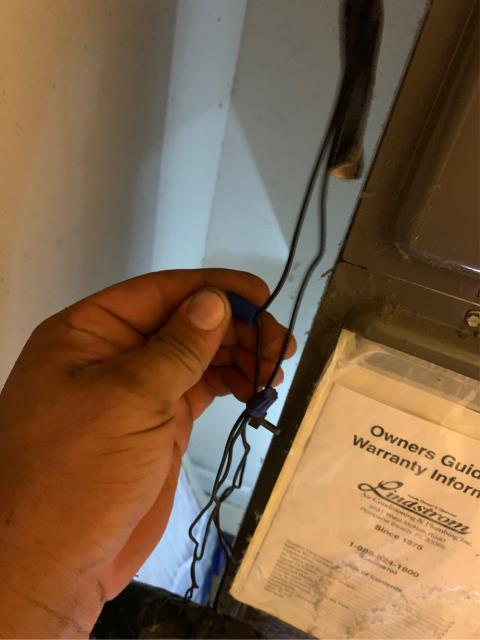 West Palm Beach, FL - Air conditioning system was not cooling; found and fixed a burnt low voltage fuse caused by a loose wire touching the metal air handler cabinet.