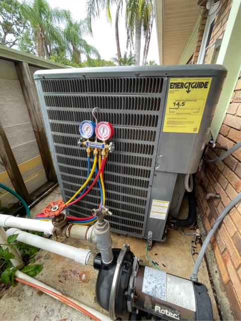 Palm City, FL - Air conditioning system not cooling; found and treated clogged drain line. All operations working properly.