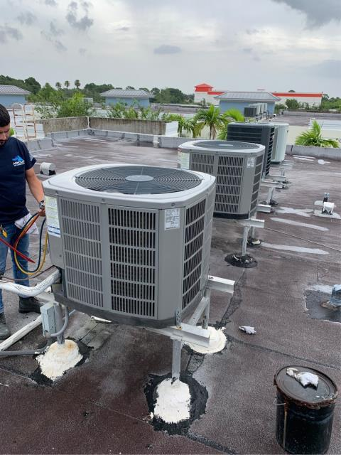 Port St. Lucie, FL - Air conditioning system maintenance on commercial systems.  All maintenances include a 23 point inspection, clean accessible coils, flush drain line, clean drain pan, and apply protective coating to outside unit.