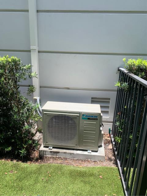 Riviera Beach, FL - Installation of Daikin mini split air conditioning system for customer's garage.