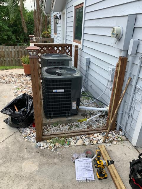 Jensen Beach, FL - Air conditioning system installation of three ac systems.  All ac systems include a 10 year labor and parts warranty.