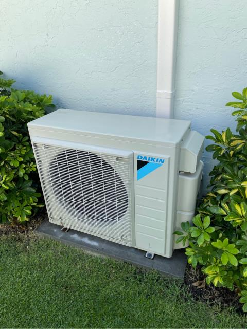 Jupiter, FL - Mini split air conditioning system tune up on two ac systems.  All tune ups include a 23 point inspection and are recommended annually to keep your ac running efficiently all year round.