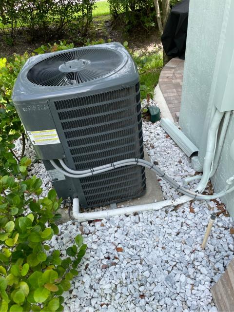 Riviera Beach, FL - Air conditioning system not cooling; found and treated clogged drain line.  All operations working again!