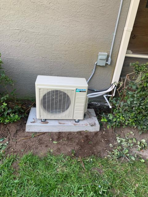Port St. Lucie, FL - Mini split air conditioning system installed to cool customers garage.