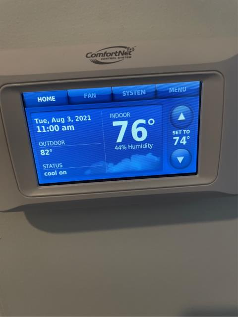 Jupiter, FL - Air conditioning system not cooling; found thermostat not seated properly on bas allowing unit communicate.  Checked system operation and everything working properly.