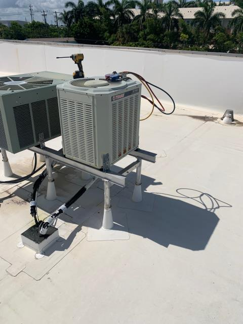 Lantana, FL - Air conditioning system not cooling; found system 19 years old, due to age and condition of unit we recommended replacing it.