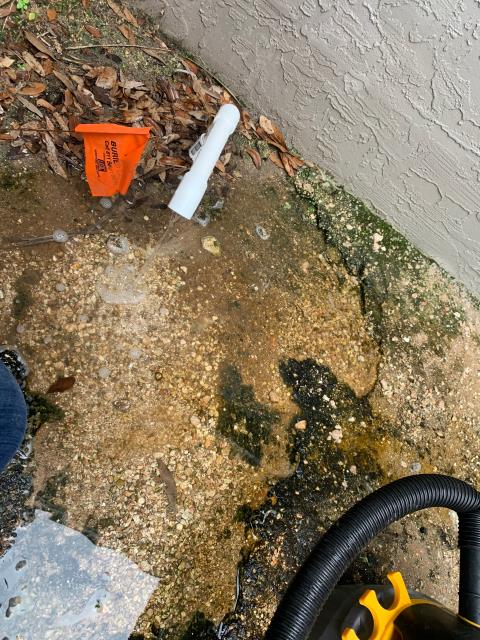 Port St. Lucie, FL - Air conditioning system leaking water; found and treated drain line.  All operations working!