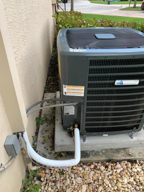 Air conditioning system installation of a 4 ton, 16.00 SEER, multi-speed ac system for better comfort.  This system comes with a 10 year parts and labor warranty.  We love our friends in Highland Reserve!
