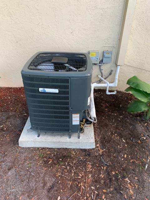 Boca Raton, FL - Air conditioning system installation of a 2.0 ton, 16.00 SEER, multi speed ac system for better comfort. This system comes with a 10 year parts and labor warranty.