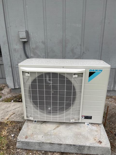 Air conditioning system installation of a Daikin Fit 3.0 Ton 17.5 SEER ac system.  This system will provide superior temperature and humidity control and has a variable speed air handler and condenser fan motor.