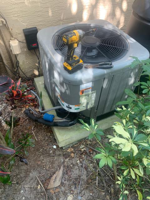 Hobe Sound, FL - Air conditioning system service call as ac was not working; found condenser breaker was turned off accidentally.