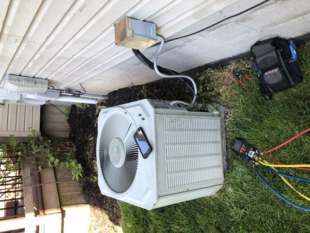 Etna, OH - Working on TRANE air conditioner